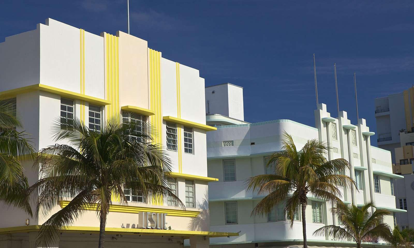 Estilo art deco de miami