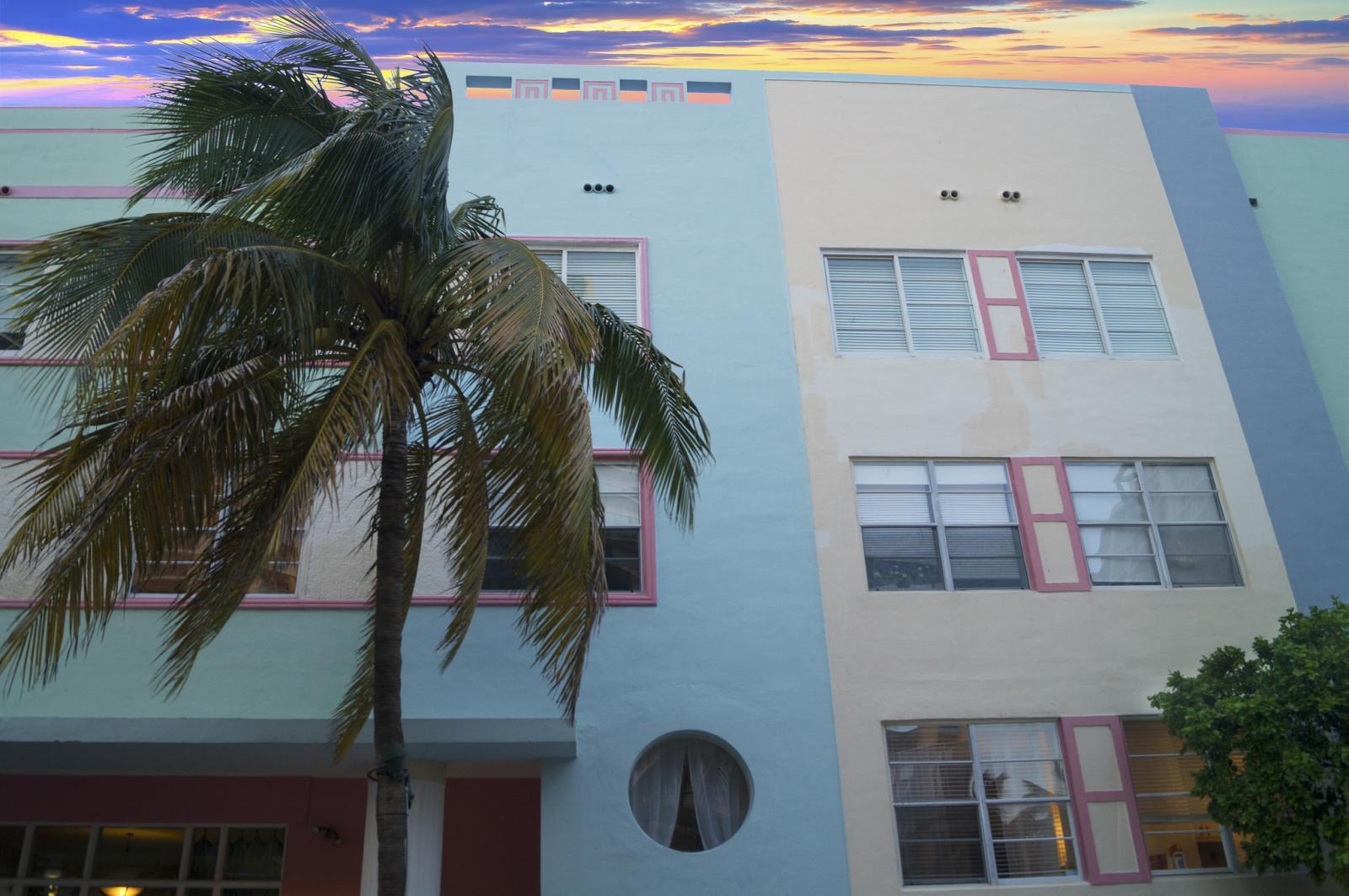 Art deco en la Collins Avenue de Miami