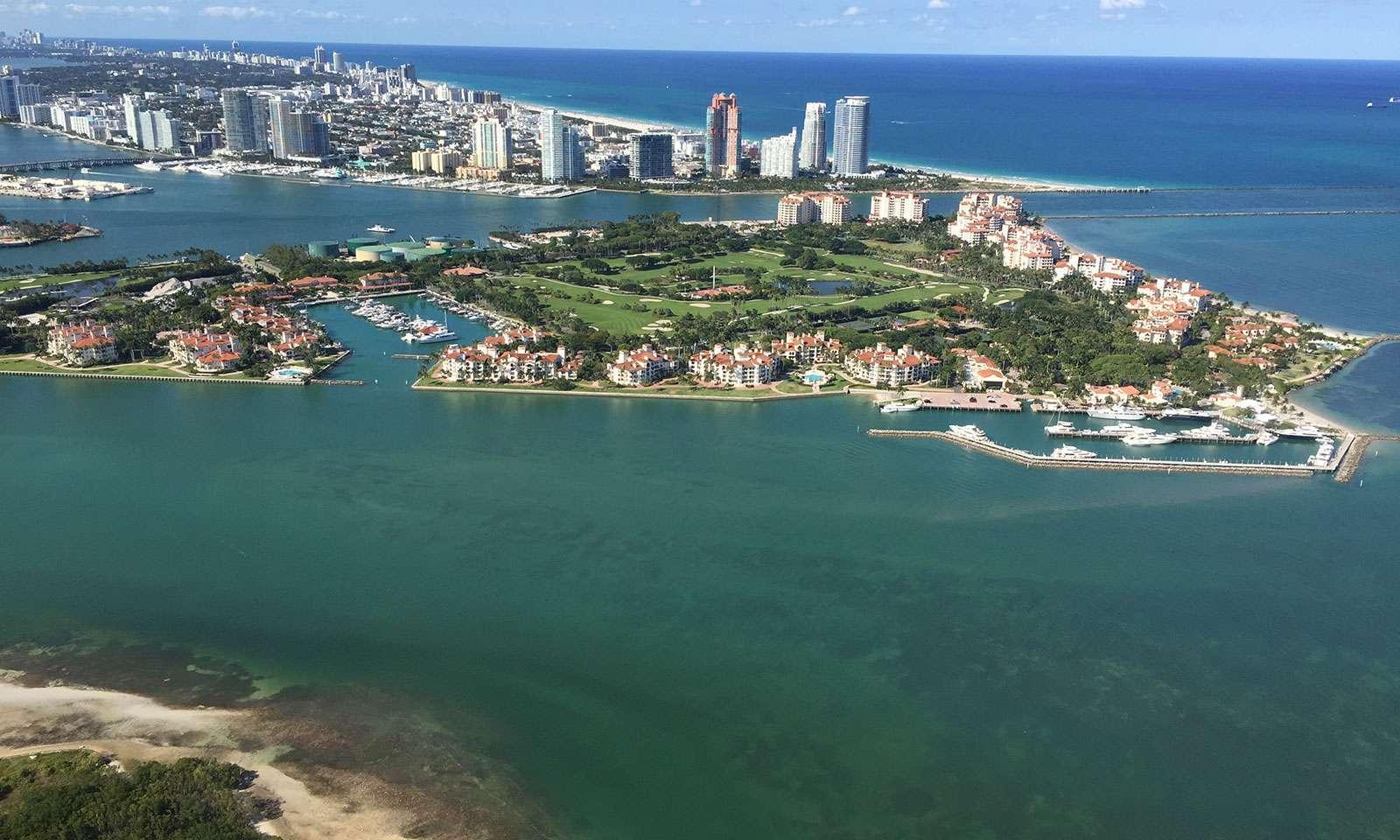 miami seaplane tours: Miami desde el aire