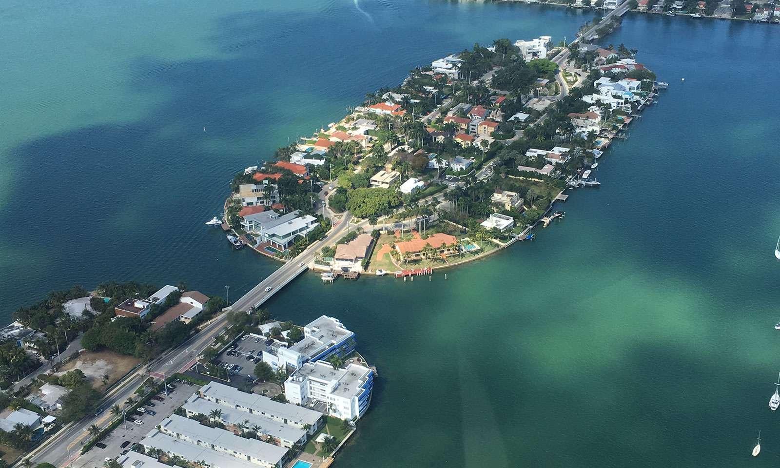 Miami desde el aire: star island