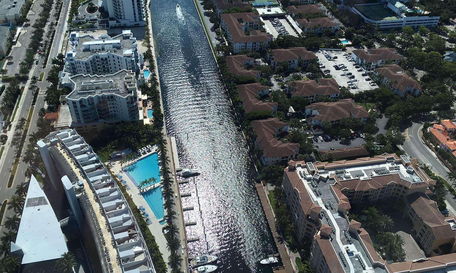 vista de Miami desde tour en helicoptero por miami
