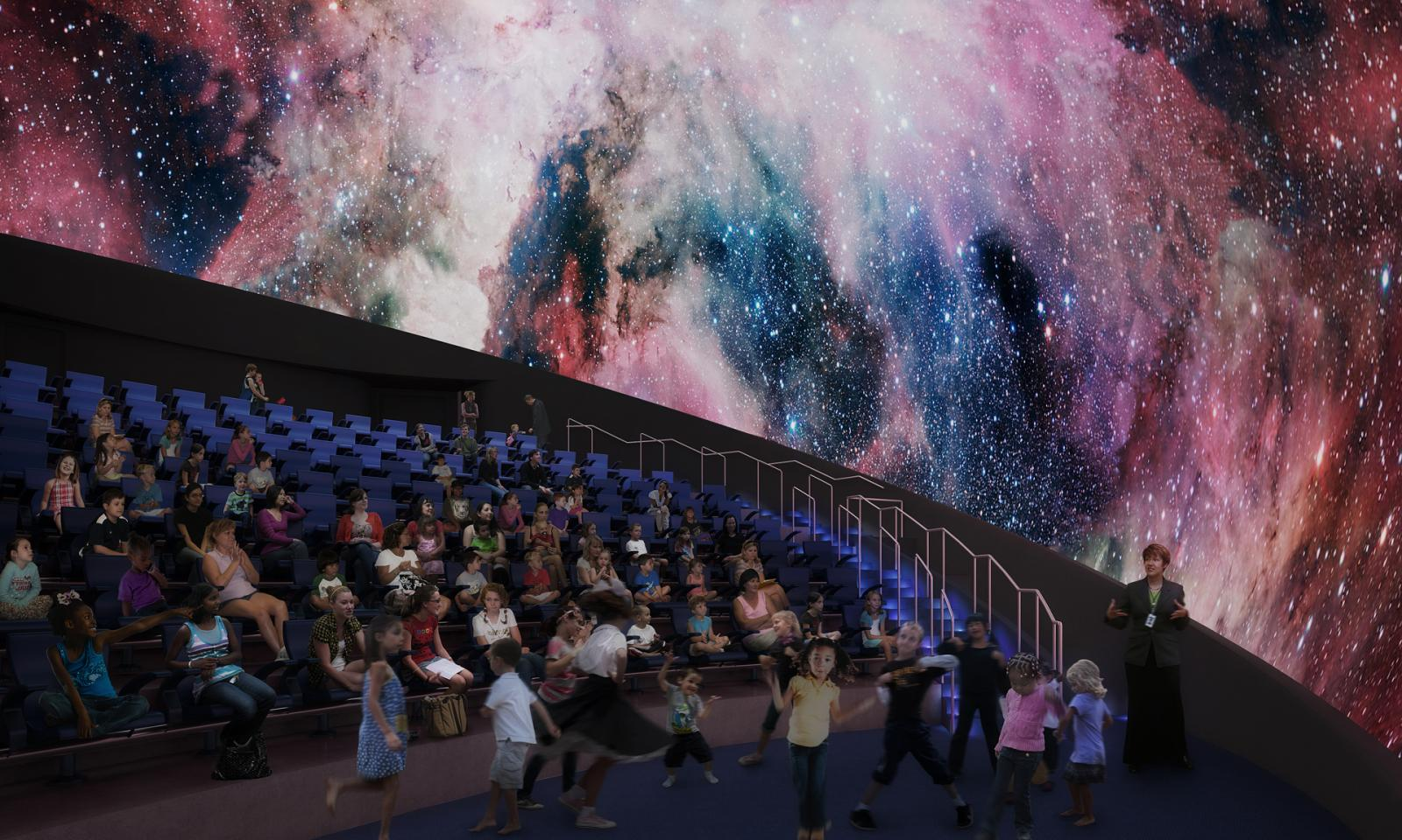 El moderno planetarium del museo de ciencias de Miami